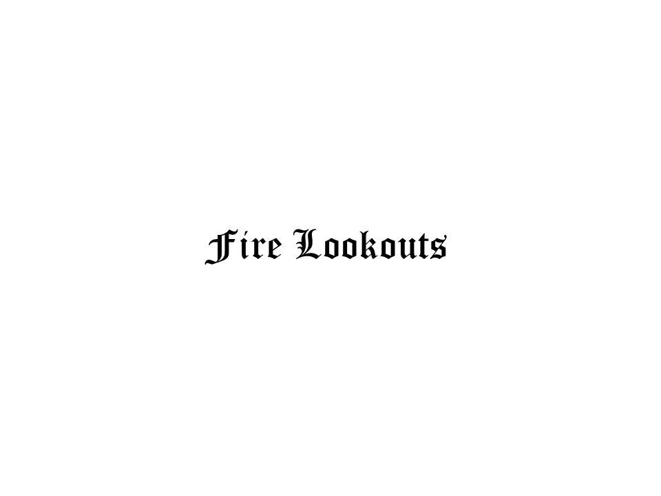 Fire Lookouts