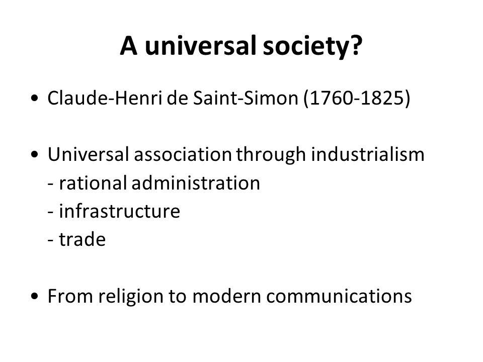 A universal society.