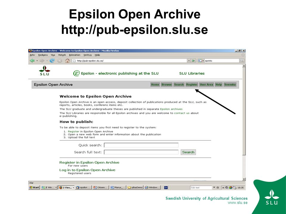 Swedish University of Agricultural Sciences www.slu.se Epsilon Open Archive http://pub-epsilon.slu.se