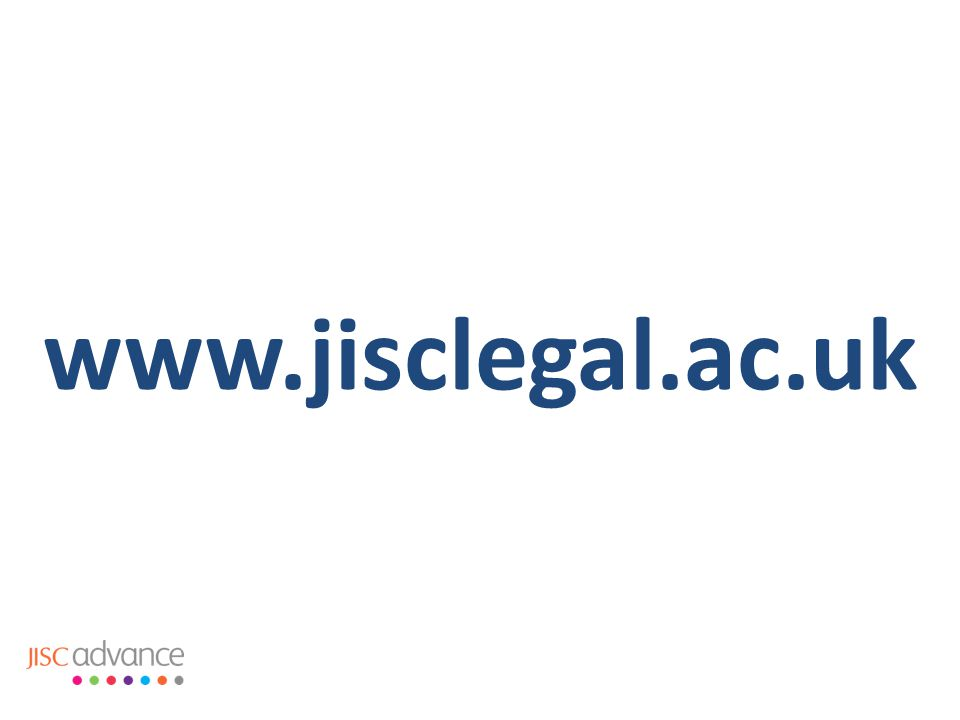 www.jisclegal.ac.uk