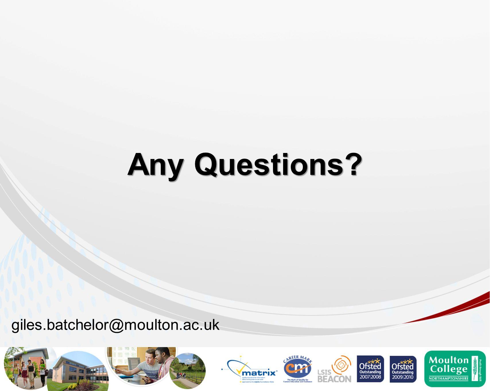 Any Questions? giles.batchelor@moulton.ac.uk