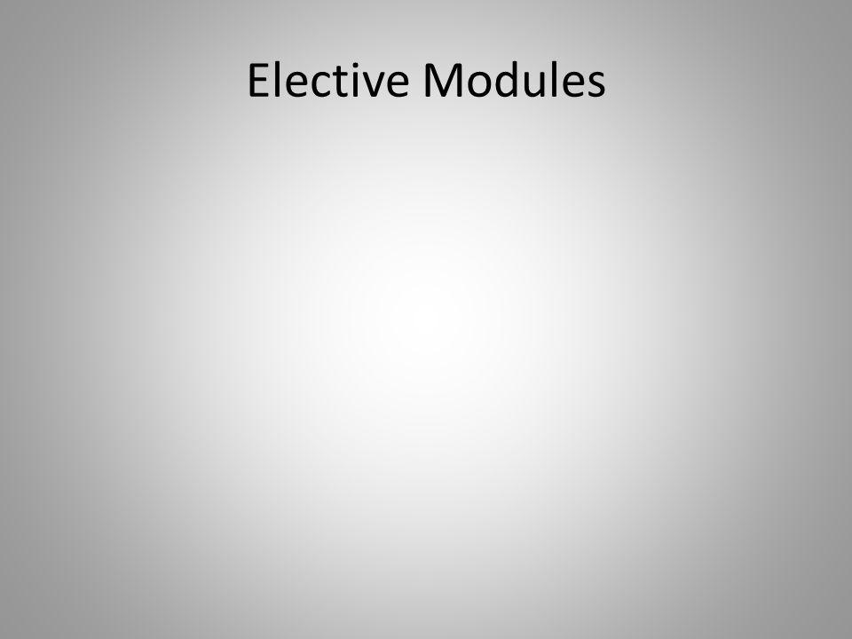 Elective Modules