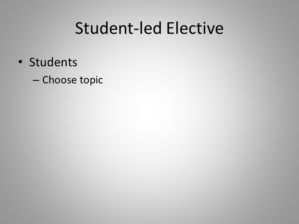 Students – Choose topic