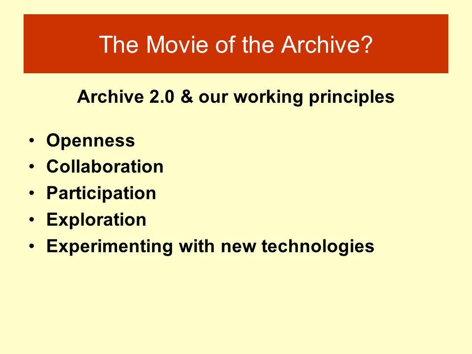 The Movie of the Archive? Rachel Thomson Sheila Henderson www.lsbu.ac.uk/inventingadulthoods