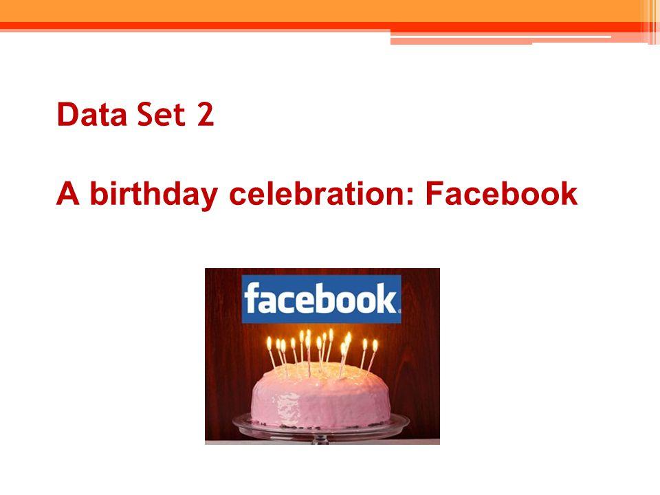 Data Set 2 A birthday celebration: Facebook