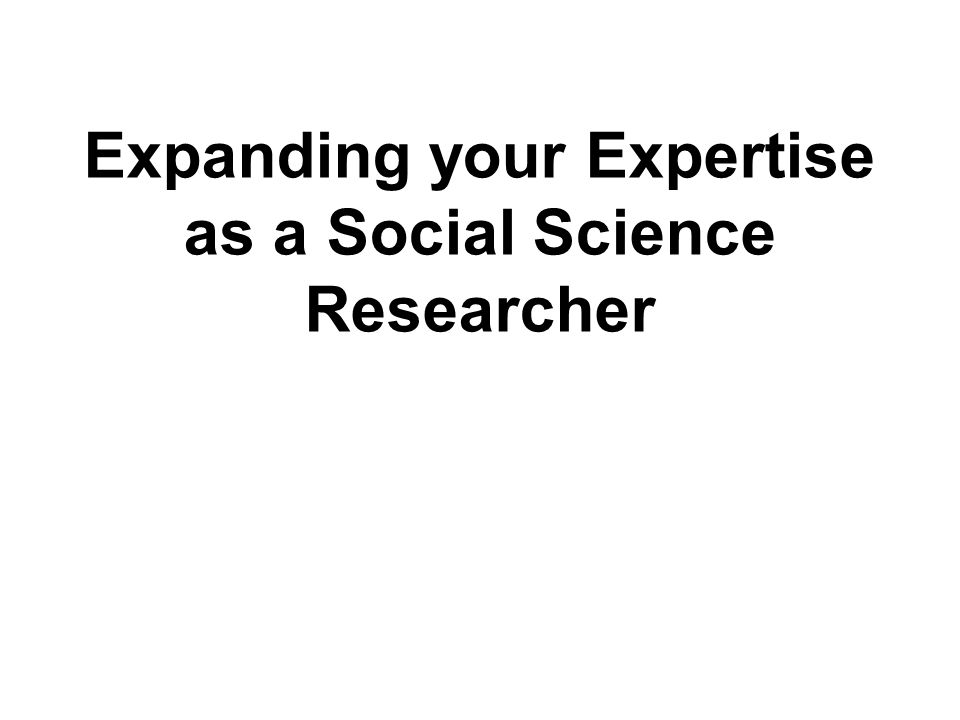 The expertise literature has many limitations, there's little research on social science researcher development, but some ideas might be useful You can judge how relevant evidence from expertise literature and research interviews is to your situation, and so whether it has applicability Allow for the possibility that even seemingly irrelevant observations could turn out to be informative We will be discussing which (if any) of the features mentioned is unexpected, so note down your thoughts as we proceed 12 00-S Informing your thinking through evidence from other contexts