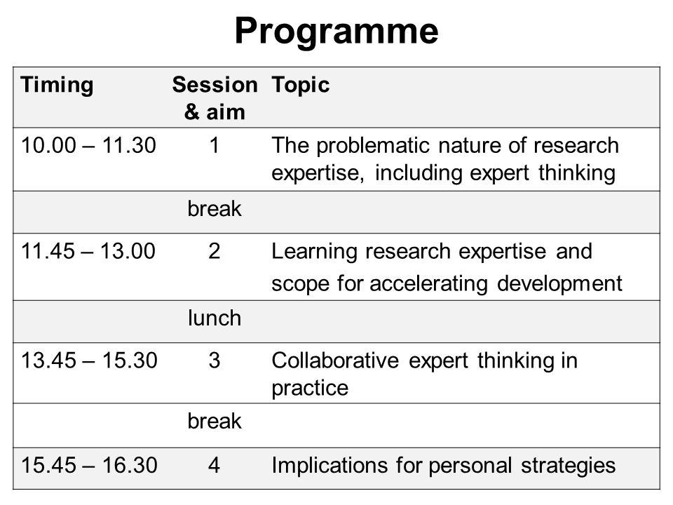 Accelerating expert development.3. Coaching/self-coaching.