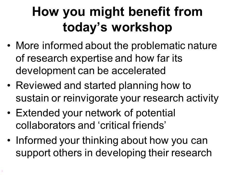 Accelerating expert development.4. The research environment.