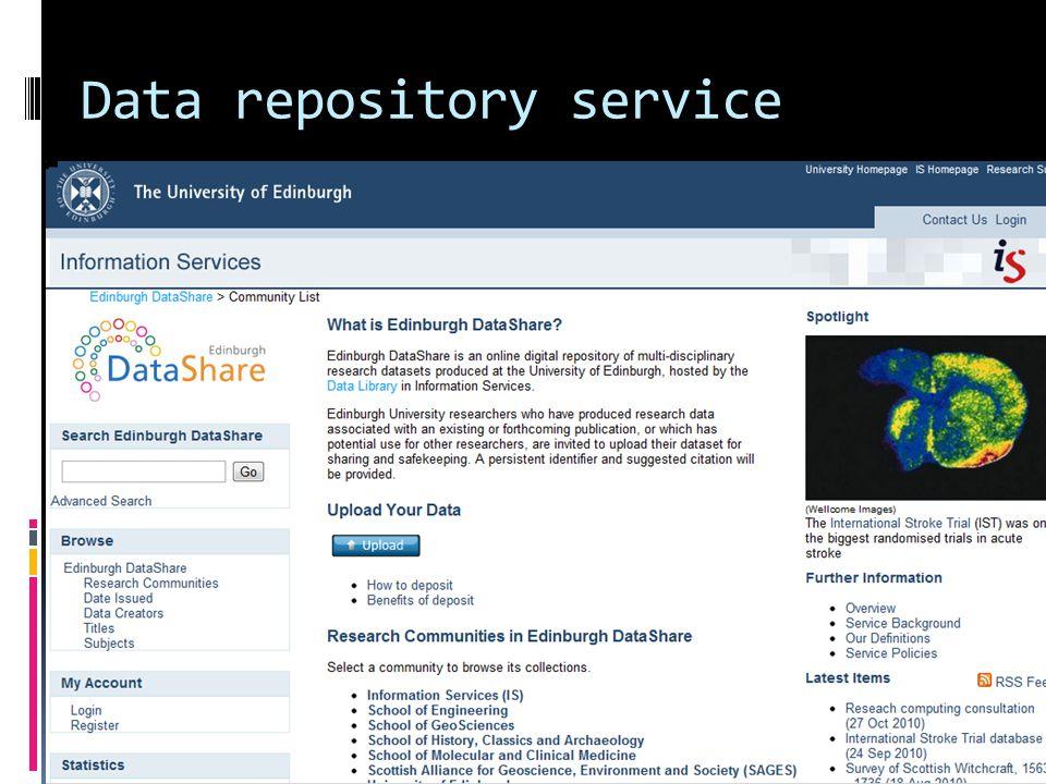 Data repository service 6