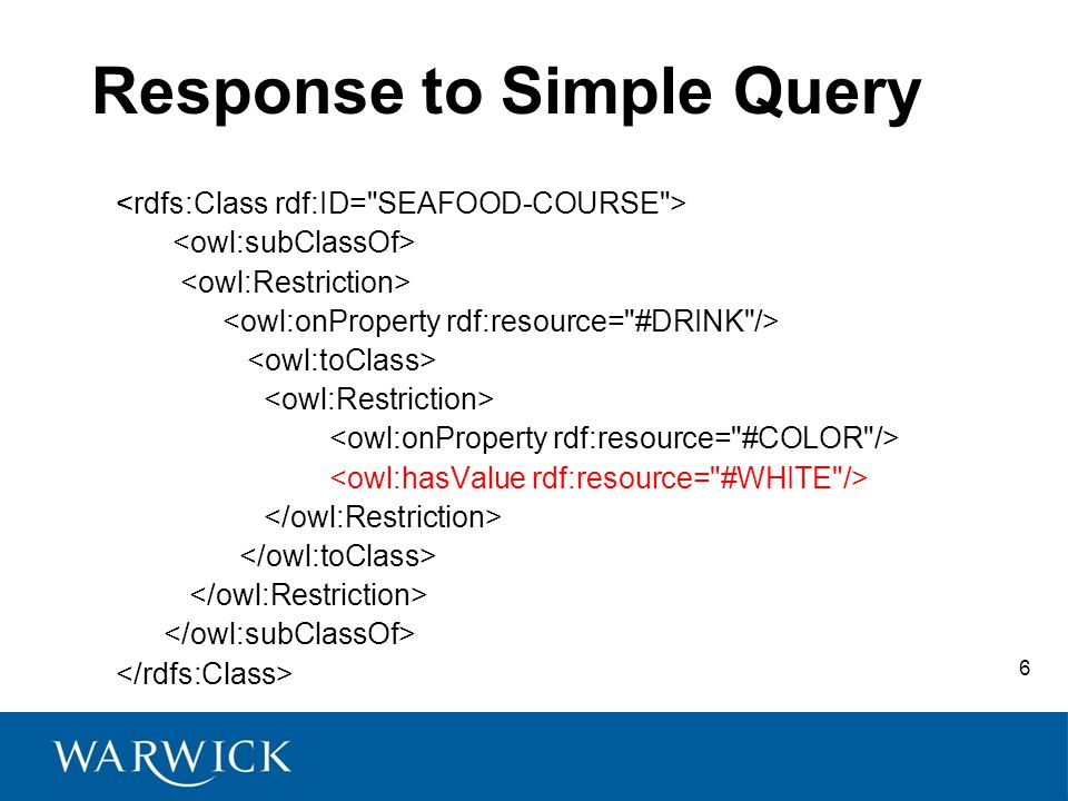 6 Response to Simple Query