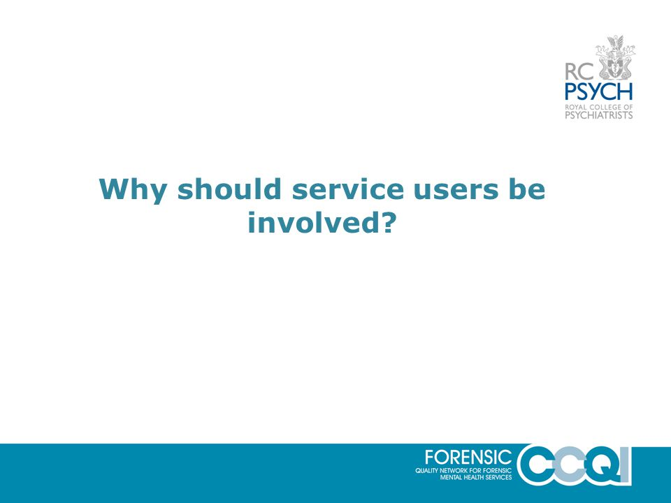 Why should service users be involved