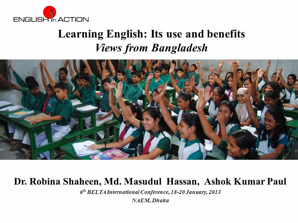 Benefits of using English (teachers' views)