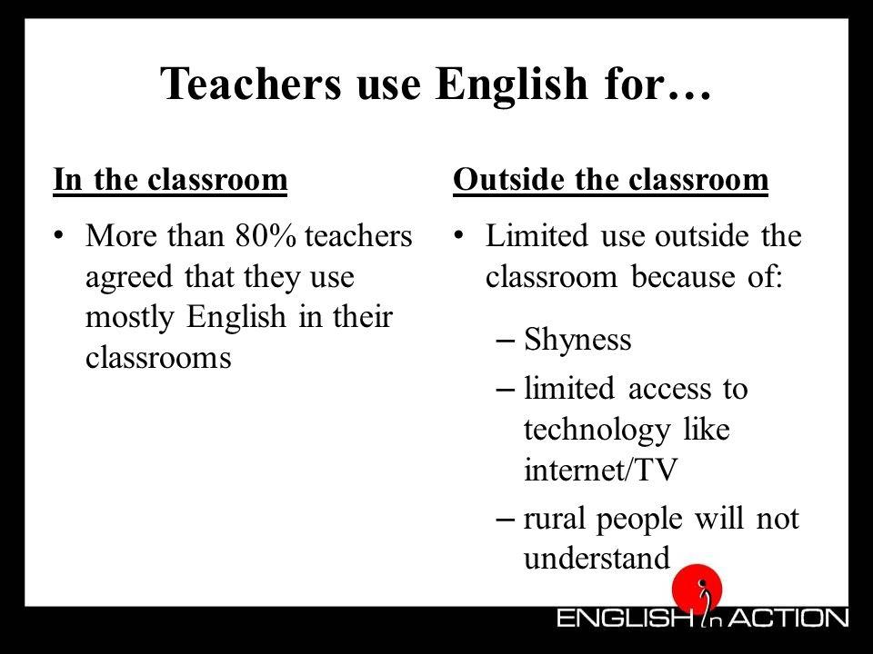 Benefits of using English (students' views)