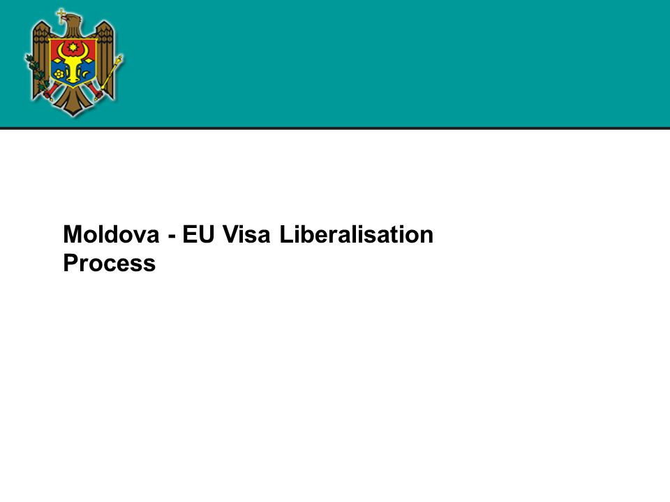 Visa liberalisation : background  Further advancing on the way of reforming in cooperation with the EU and in accordance with European standards the justice and home affairs area – a priority reform sector for the Government  2007 – Moldova unilaterally abolished the visa regime for EU citizens  Since January 2008, Moldova has been implementing visa facilitation and readmission agreements with the EU.