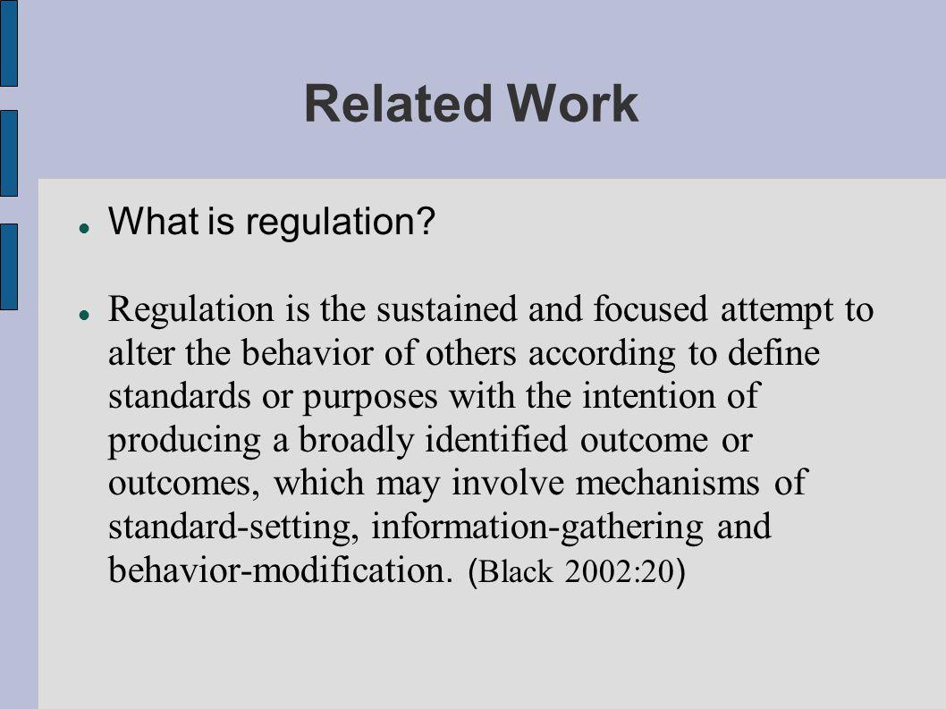 Related Work External factors affecting regulation in previous researches: Market, Political Reform, Cultural structure, Public Interests ( B.H.Winfield & Z.Peng,2005; R.Cullen & H.L.Fu,1998; B H.Winfield, T Mizuno & C E.Beaudoin,2000; Lin,2006; Zhao,1998 ) Social Consensus (Ideology or cultural Structure) ) Mass MediaStateMarket