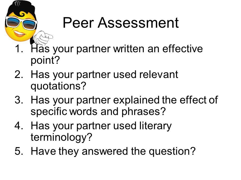 Peer Assessment 1.Has your partner written an effective point.