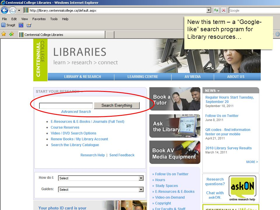 New this term – a Google- like search program for Library resources…