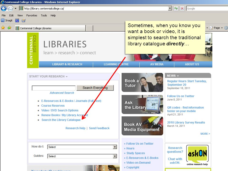 Sometimes, when you know you want a book or video, it is simplest to search the traditional library catalogue directly…