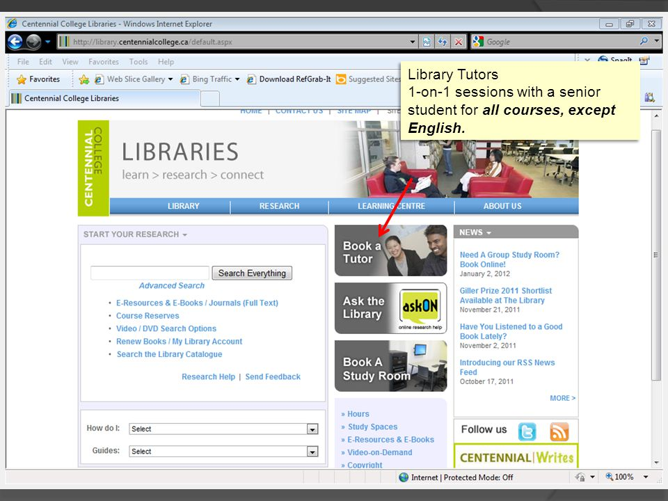 Library Tutors 1-on-1 sessions with a senior student for all courses, except English. Library Tutors 1-on-1 sessions with a senior student for all cou