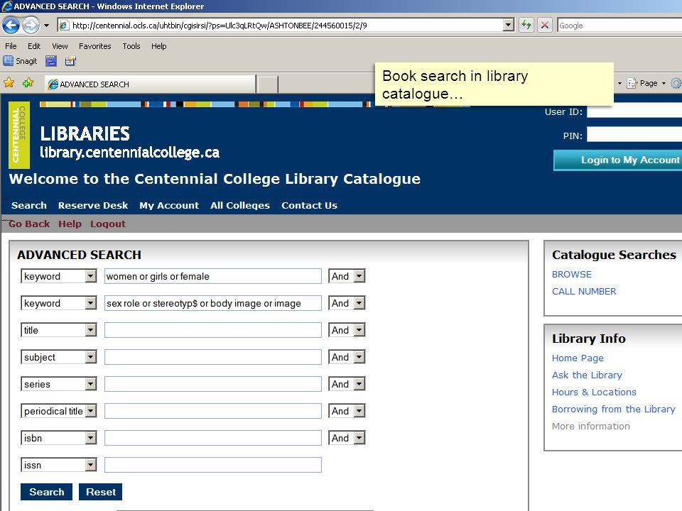 Book search in library catalogue…