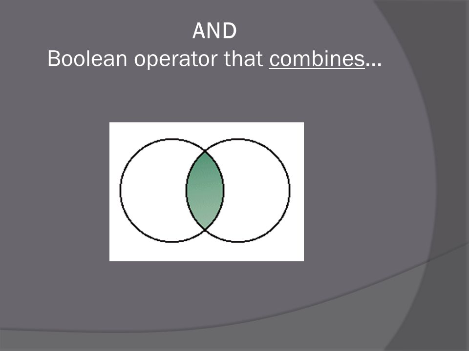 AND Boolean operator that combines…