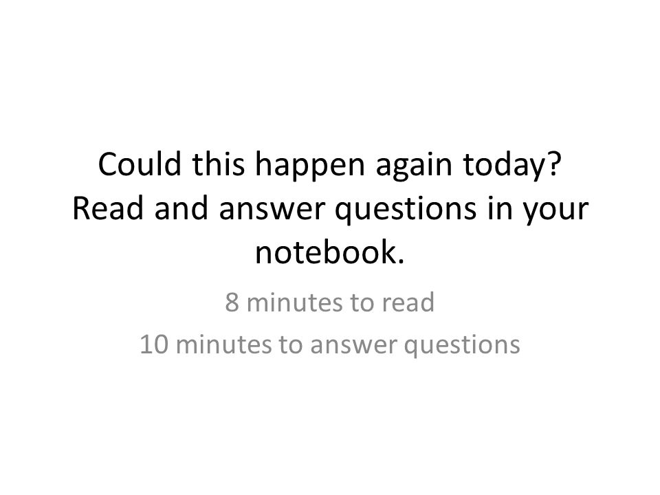 Homework 1)Finish answering questions from the reading in your notebook.