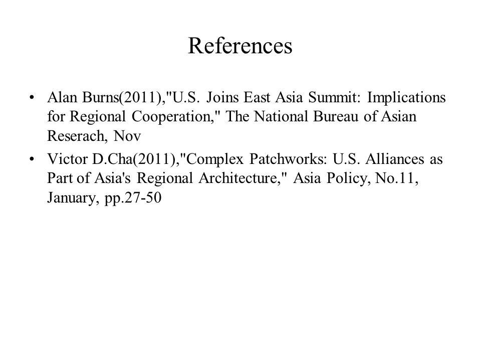 References Alan Burns(2011), U.S.