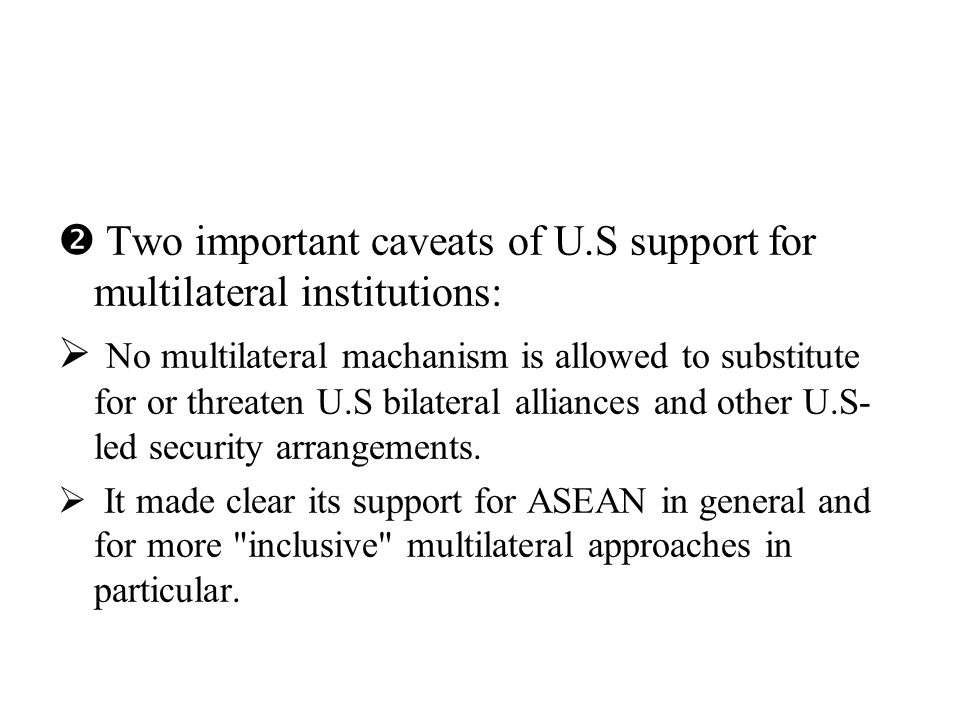 Pan-Asianism Pan-Pacificism exclusive inclusive APT SCO EAS APEC ARF cautious watchful welcome support