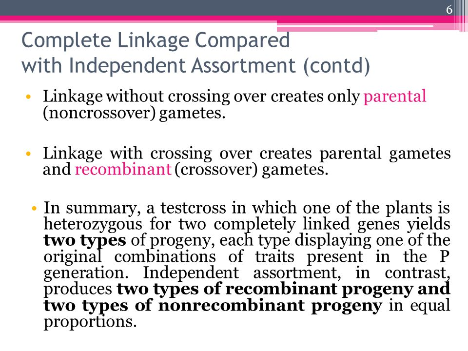 Linkage without crossing over creates only parental (noncrossover) gametes.