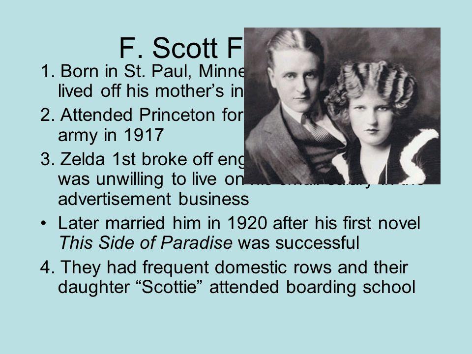 F. Scott Fitzgerald 1. Born in St.