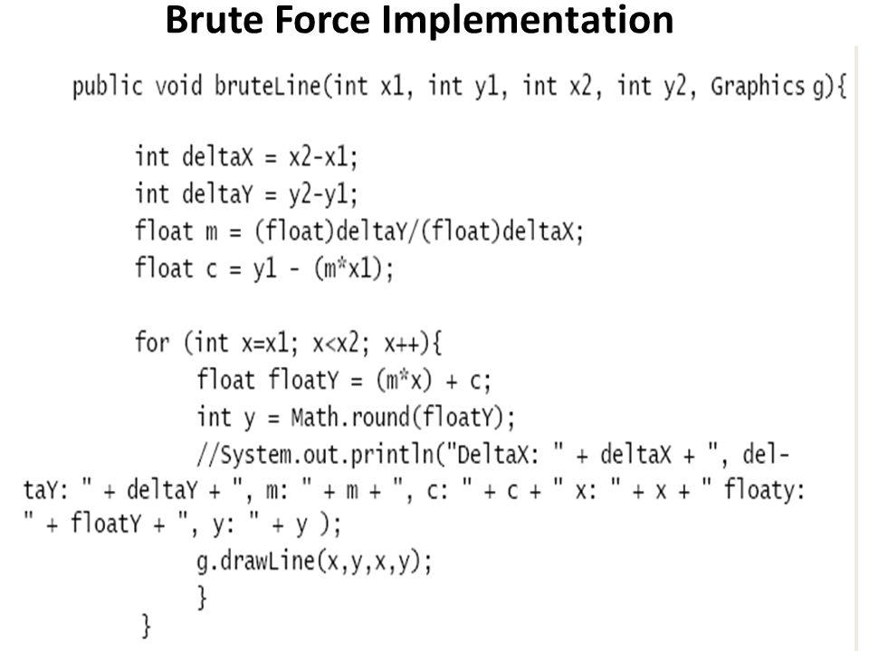 Brute Force Implementation