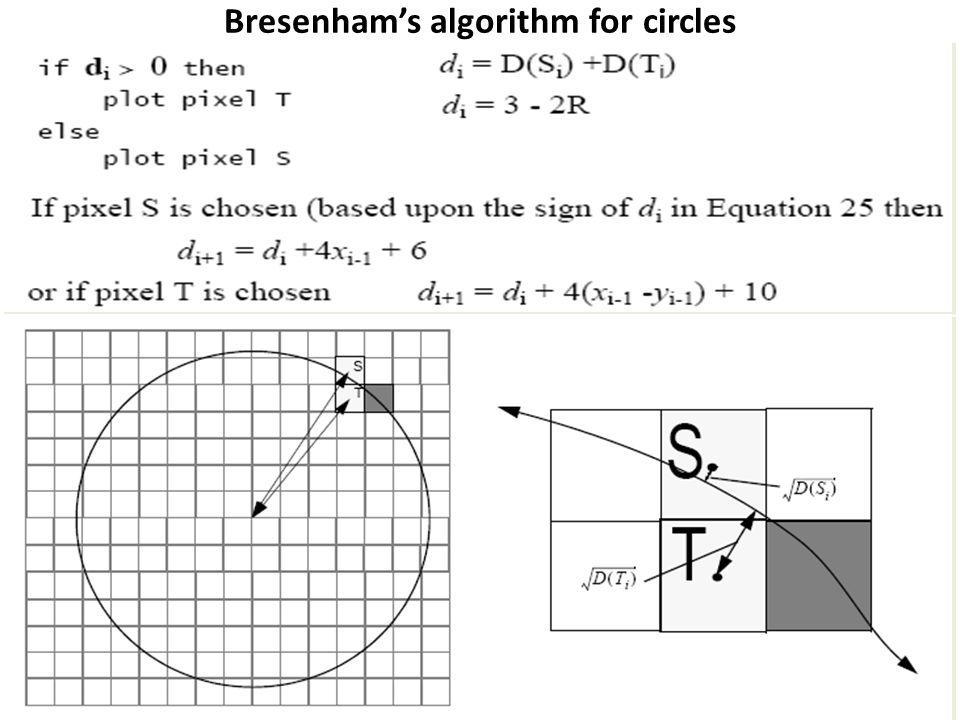 Bresenham's algorithm for circles
