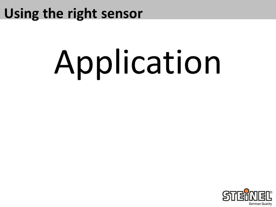 Using the right sensor Application