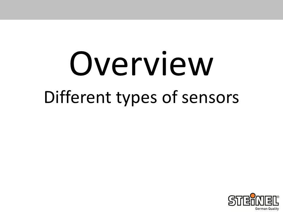 Overview Different types of sensors