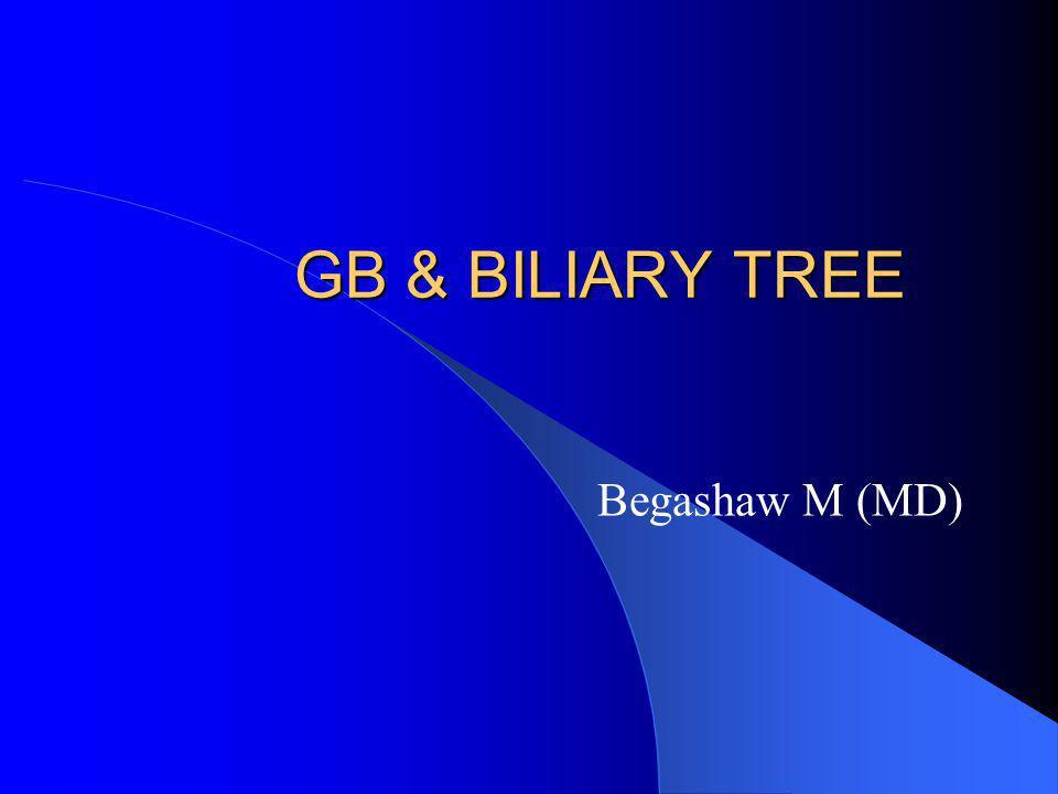 GB & BILIARY TREE Begashaw M (MD)