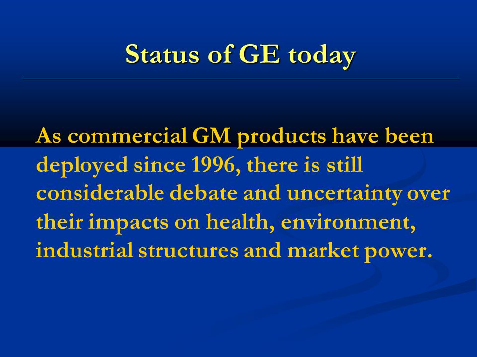 Status of GE today ______________________________________________________________________________________________________________ As commercial GM pro