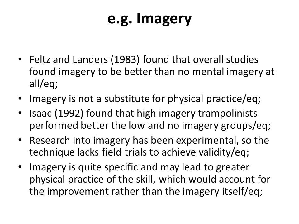 (i) Describe the findings (results and/or conclusions) of one study from the list.