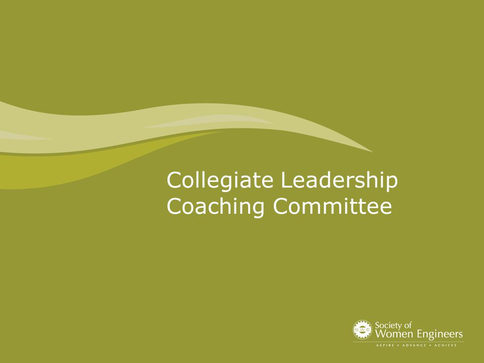 Collegiate Leadership Coaching Committee