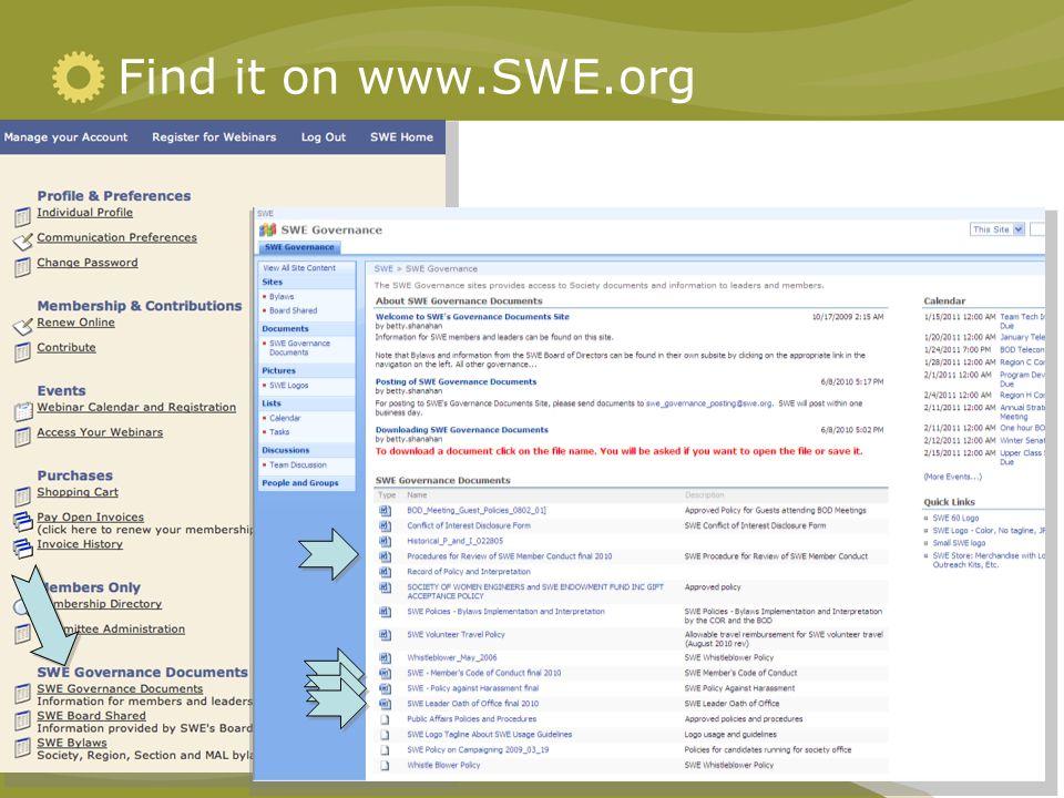Find it on www.SWE.org