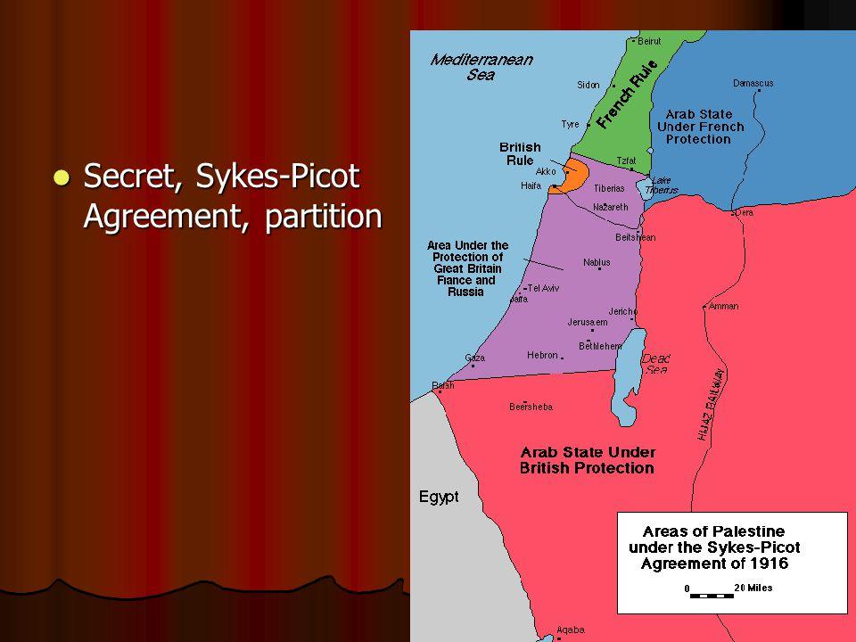 Secret, Sykes-Picot Agreement, partition Secret, Sykes-Picot Agreement, partition