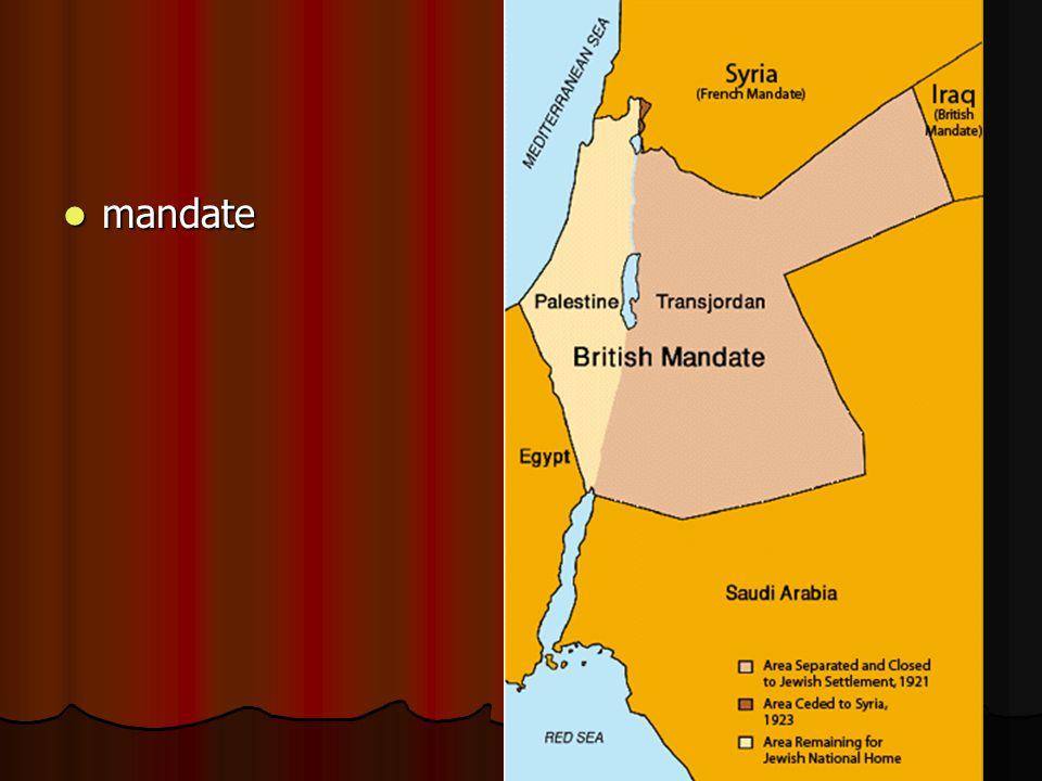 mandate mandate