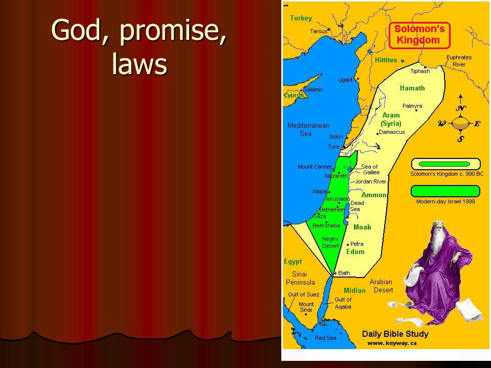 God, promise, laws