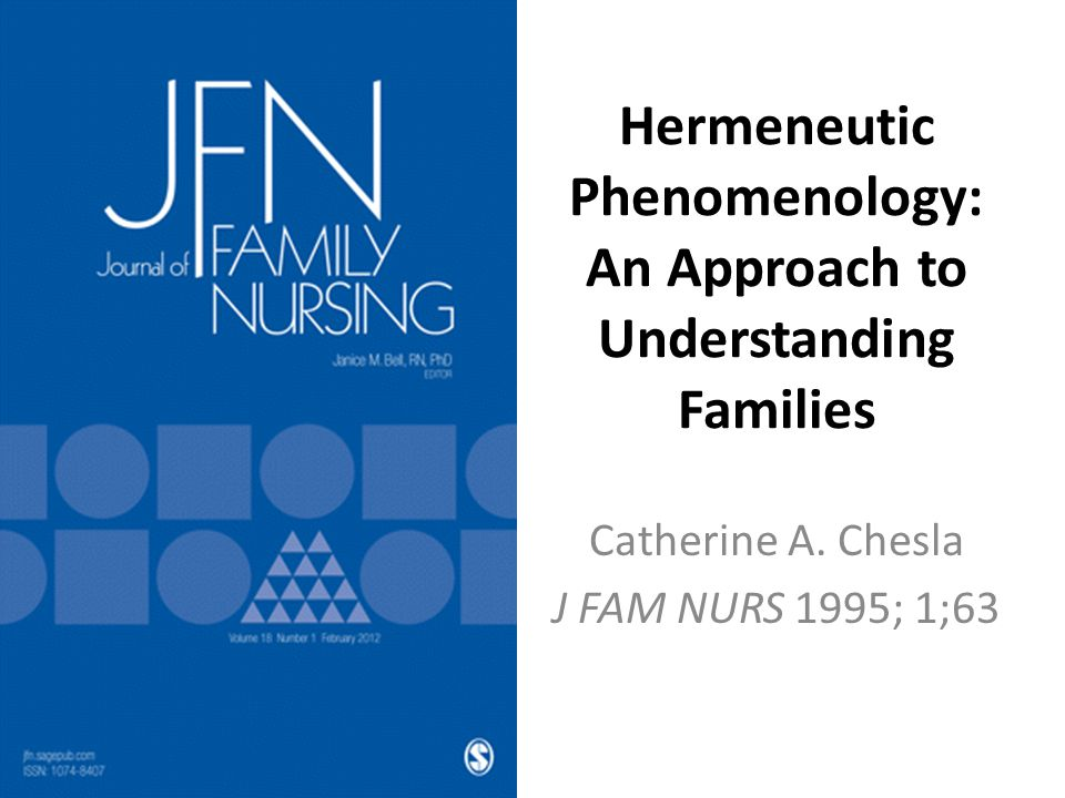 Hermeneutic Phenomenology: An Approach to Understanding Families Catherine A.