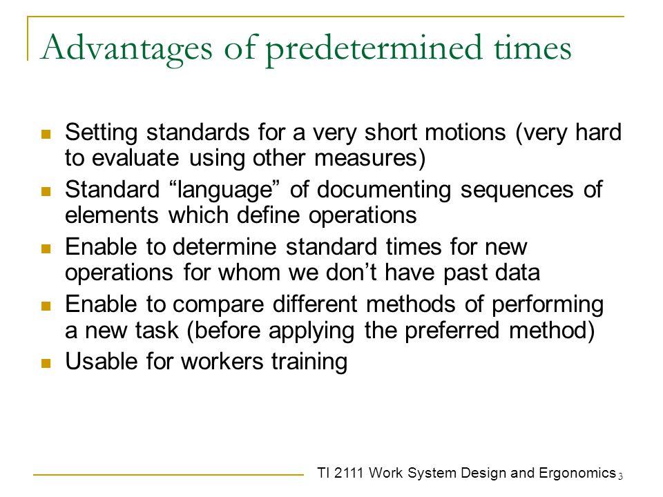 TI 2111 Work System Design and Ergonomics 14 Remember TMU .