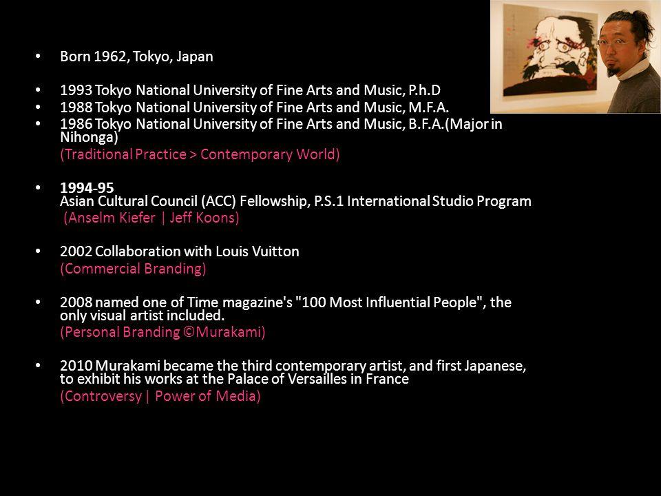 Born 1962, Tokyo, Japan 1993 Tokyo National University of Fine Arts and Music, P.h.D 1988 Tokyo National University of Fine Arts and Music, M.F.A.