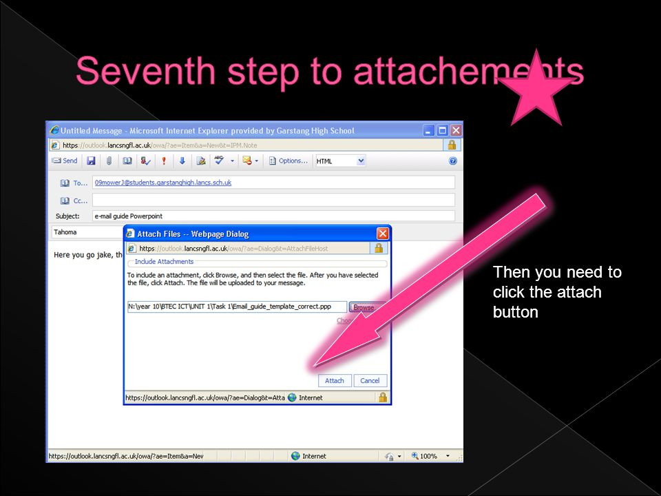 Then you need to click the attach button