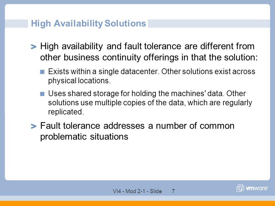 VI4 - Mod 2-1 - Slide 58 Customizing VMware HA