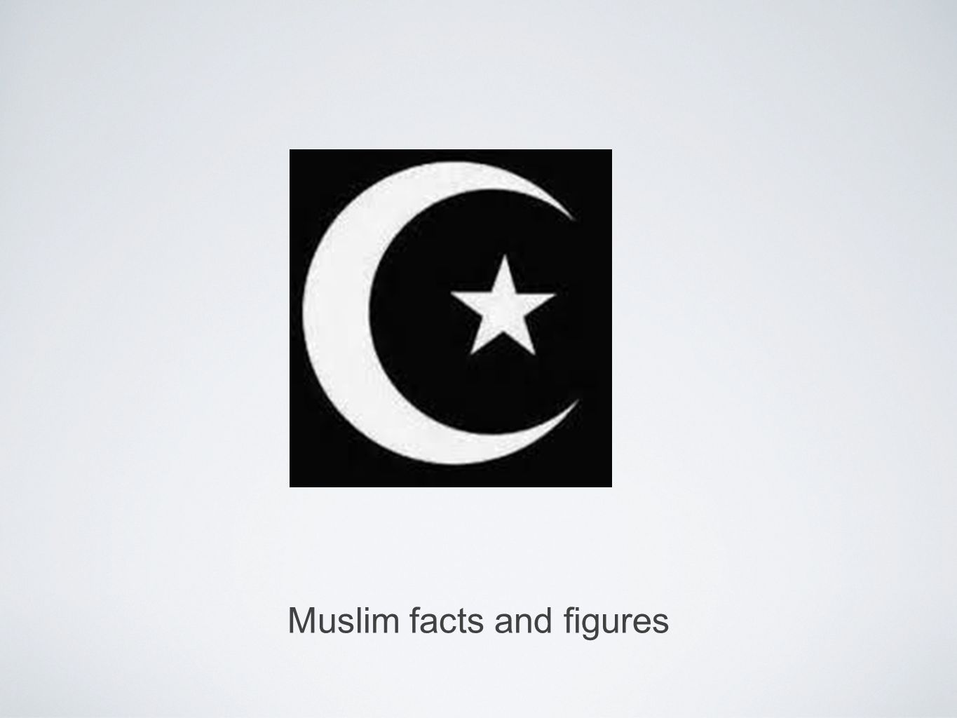 Muslim facts and figures