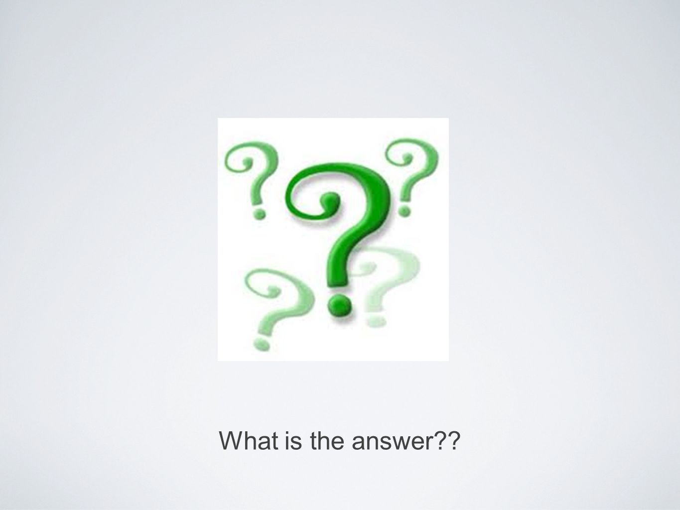 What is the answer??