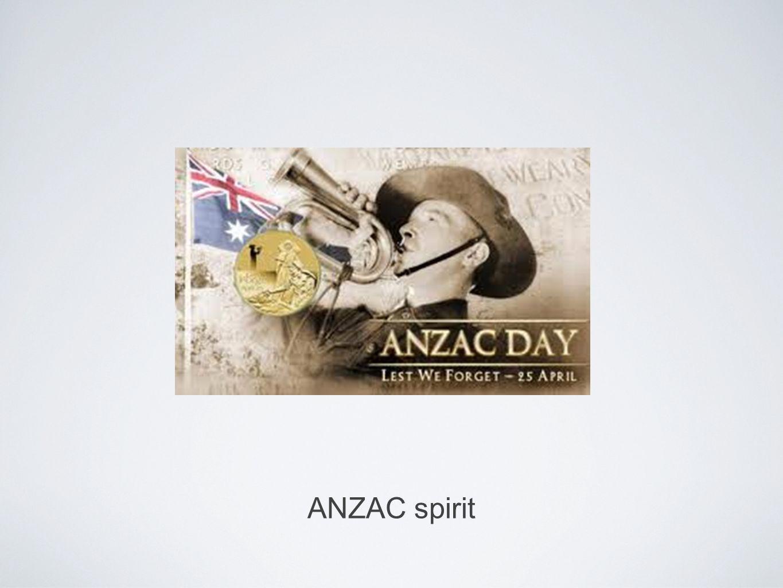 ANZAC spirit